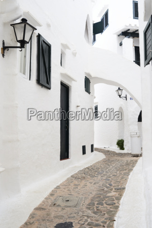 spain menorca binibequer vell white traditional