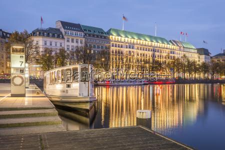 germany hamburg inner alster lake hotel