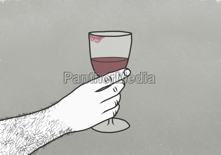 cropped image of man holding wineglass