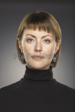 portrait of mid adult woman with