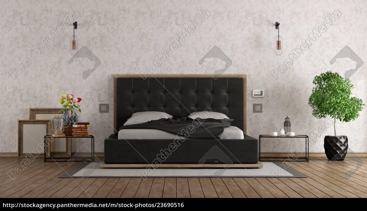 schwarz-weiß-schlafzimmer - Lizenzfreies Foto - #23690516 ...