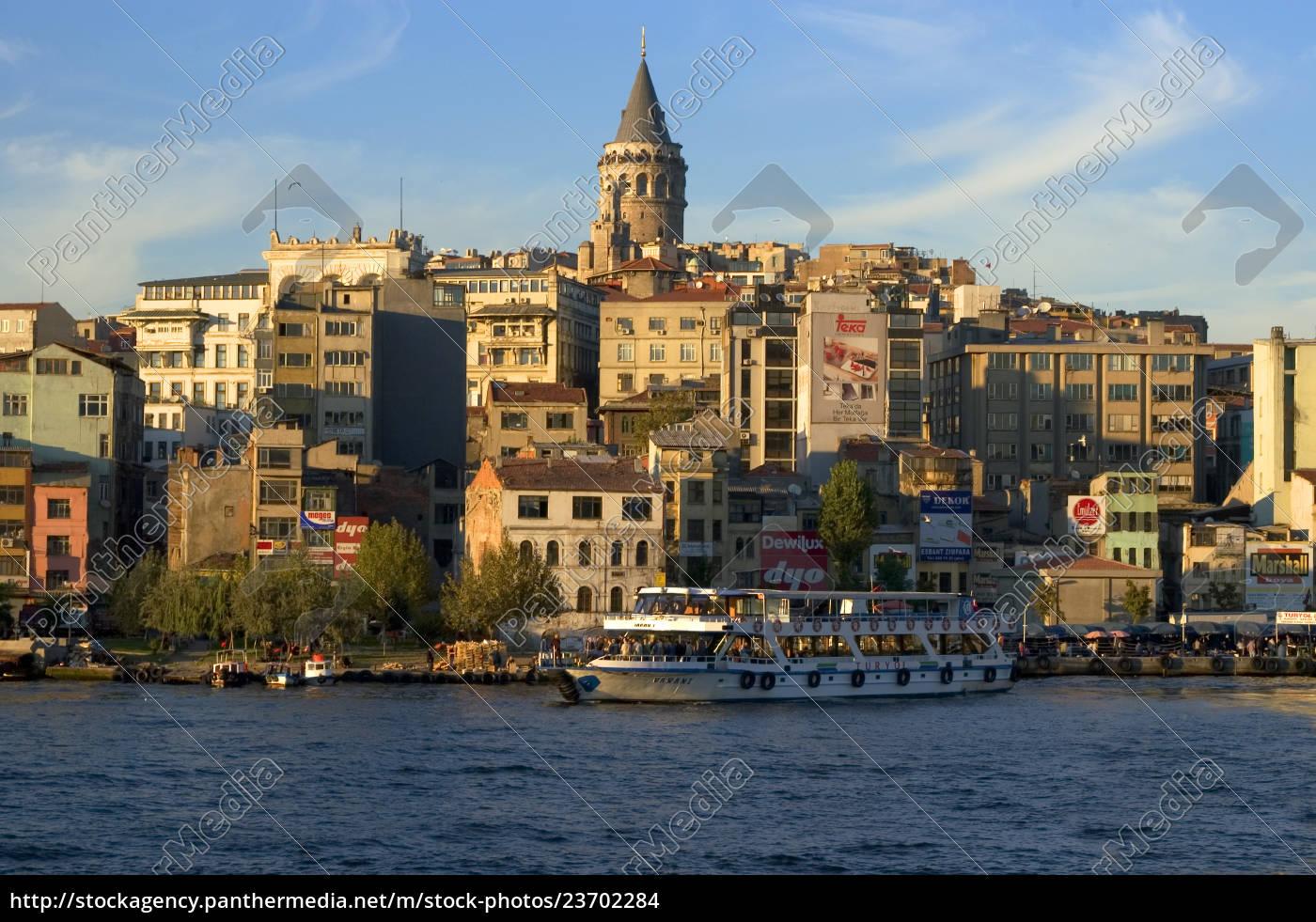 istanbul, turkei, goldenes, horn, vor, dem - 23702284
