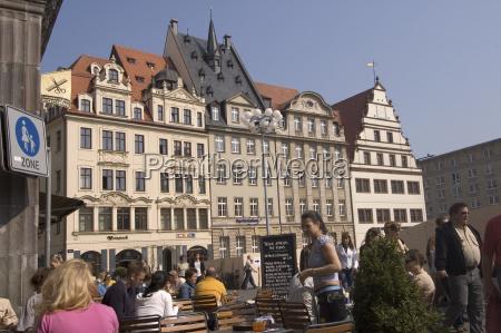 strassencafe leipzig deutschland