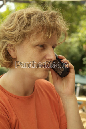 woman is on the phone
