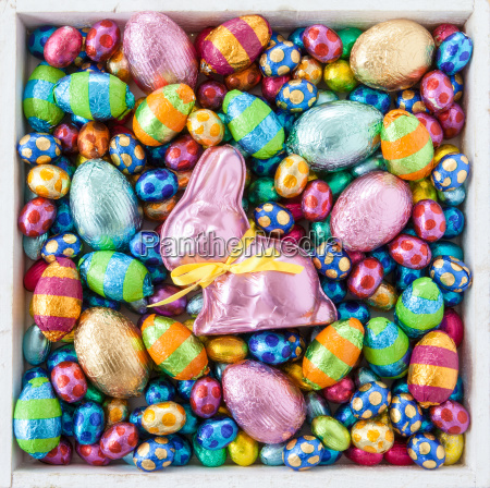 lots of colourful easter eggs