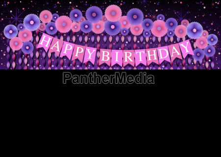 happy birthday background with purple and