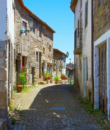 famous portugal village street monsanto