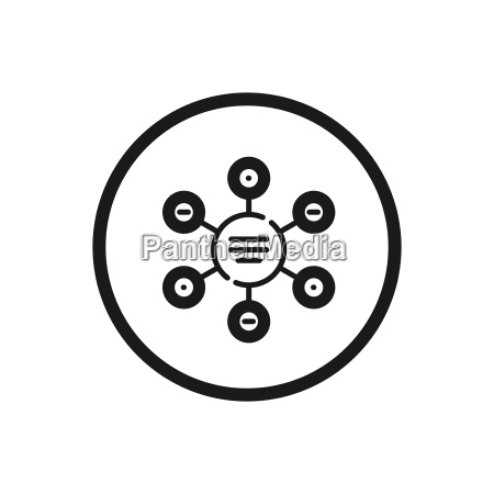 infographic line icon with a circle