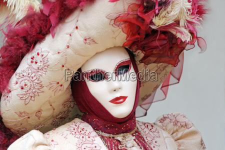 karneval venedig 2006 weisse maske