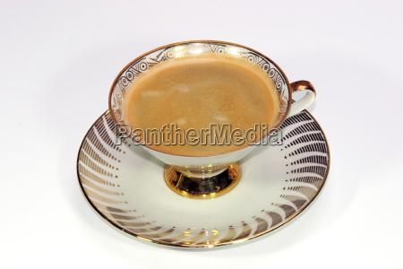 kaffee mit crema in einer nostalgischen