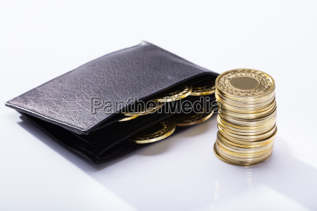 wallet and golden coins