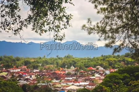 view of the bukittingi town in