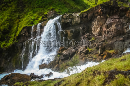 waterfall on the slopes of gunung