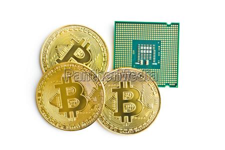 golden bitcoins and cpu