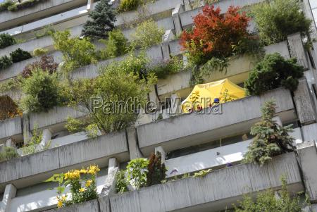 begruente betonbalkone balkone im olympiadorf