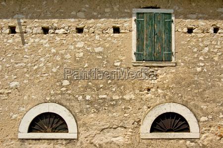 window of an old farmhouse italy