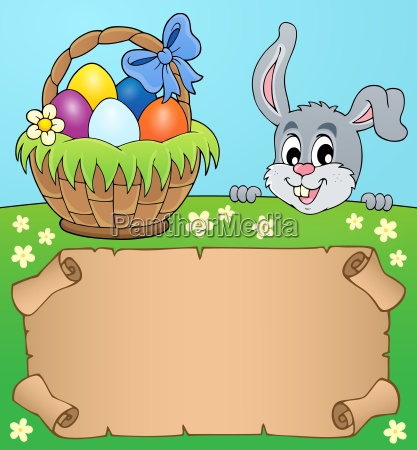 parchment and easter bunny theme 5