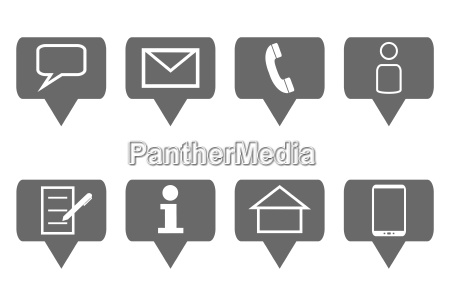 8 kontakt icons grau