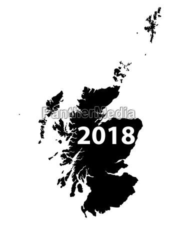karte von schottland 2018