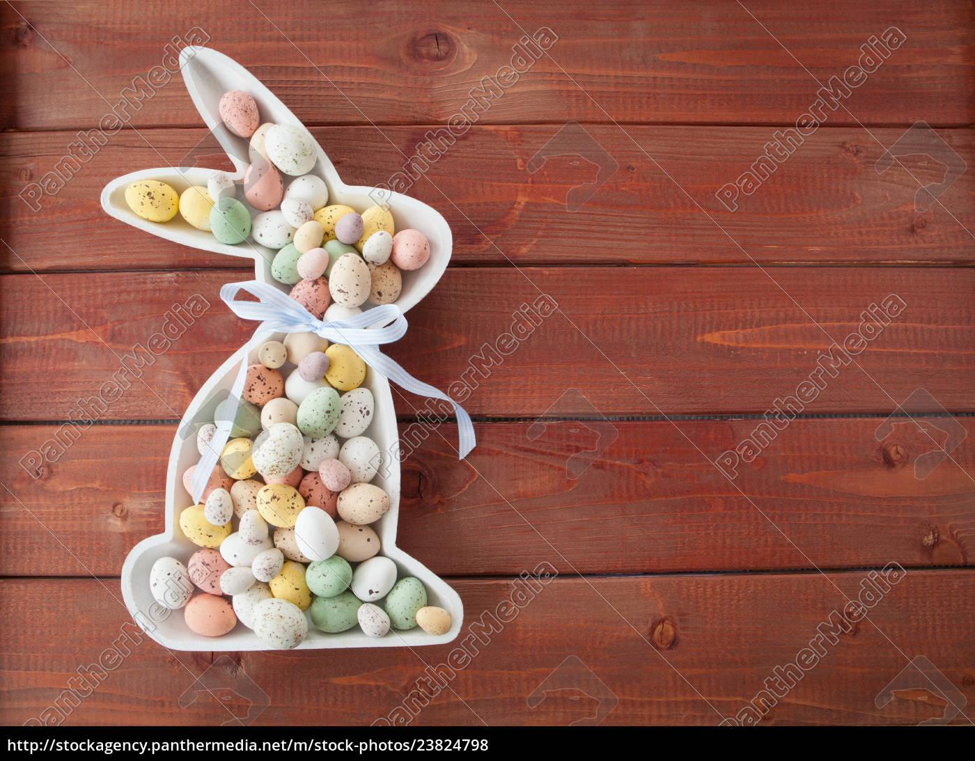 bunte, ostereier, aus, schokolade - 23824798