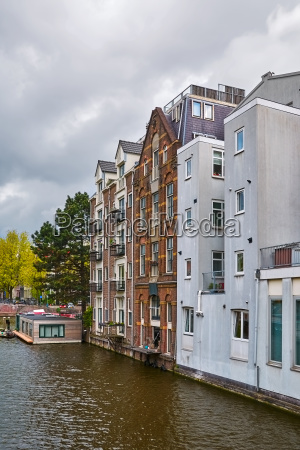 residential houses along the canal