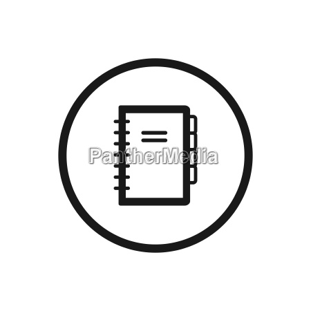notebook line icon on a white