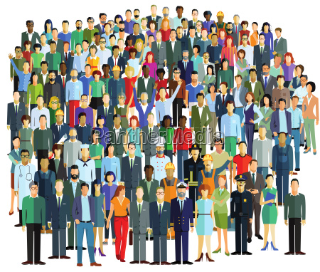 menschenmenge und personengruppen illustration