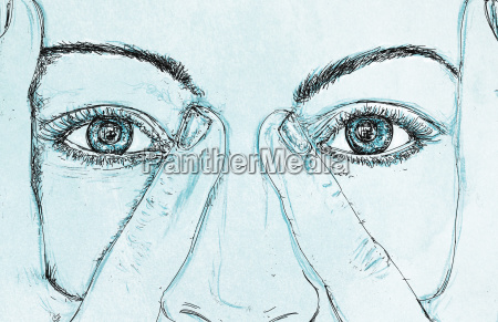 womans eyes for banners with his
