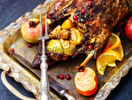 roast duck and oranges