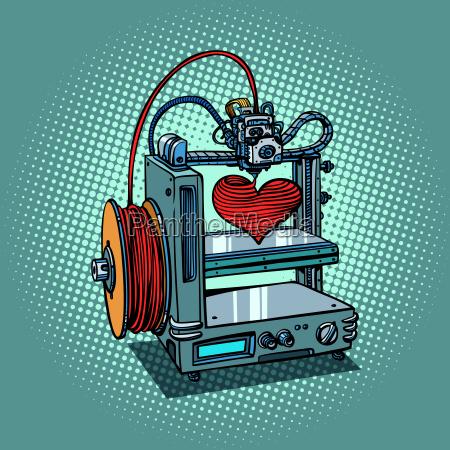 bioprinter druckt liebe herz 3d drucker