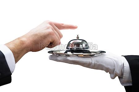 ring dienst hotel glocke ober kellner