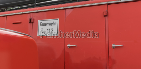 detail of a fire truck with