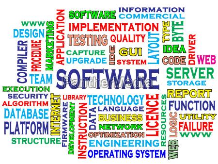 wortwolke der software