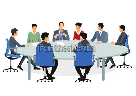 geschaeftsleuten beim meeting und beratung