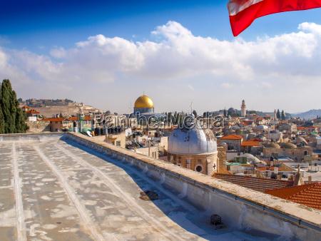 felsendom in jerusalem israel blick vom