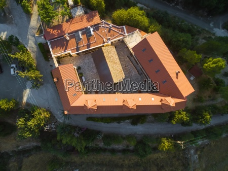 aerial holy monastery of panayia amasgous