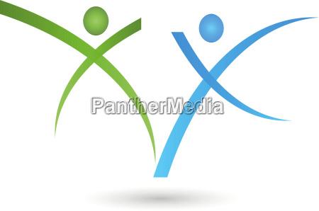 two people people couple logo