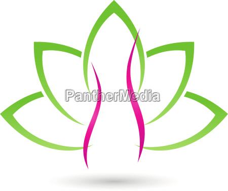 logo woman human leaves naturopath gynecologist