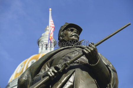 usa colorado denver statue of union