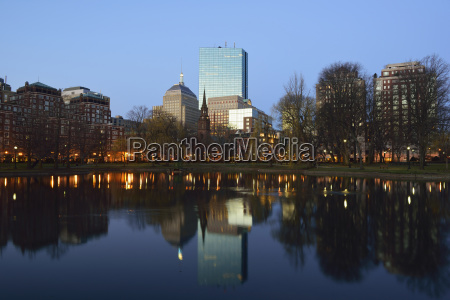 copley square at sunset