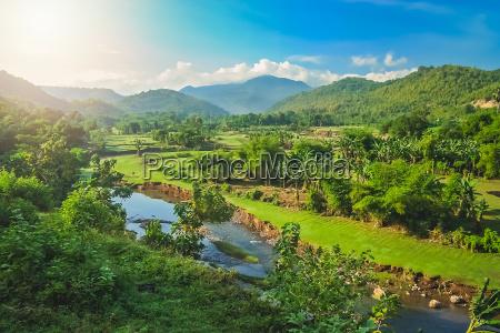 river valley in sumbava