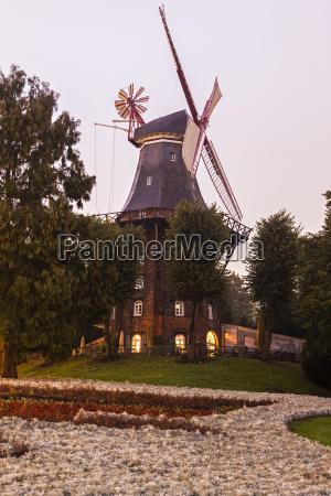 am wall windmill in bremen bremen