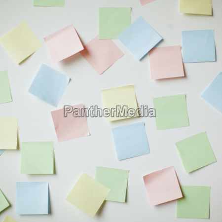 variety of blank adhesive notes on