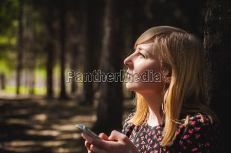 blonde woman dressed summer dress black