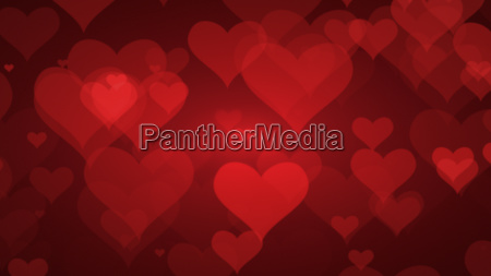 soft red background with hearts valentines