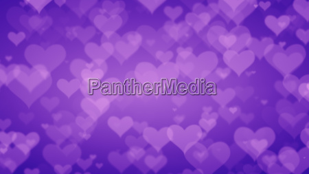 soft purple hearts on graduated background