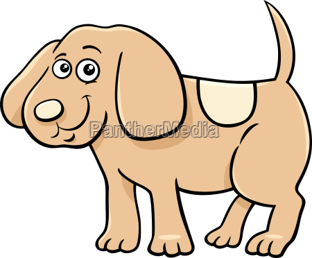 cute puppy character cartoon illustration
