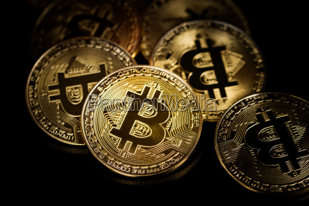 golden bitcoins coin of cryptocurrency