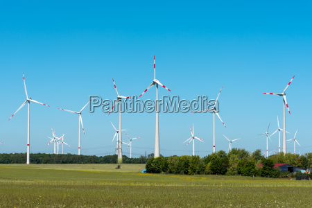 wind turbines in germany on a