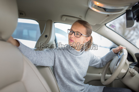 woman driving a car female